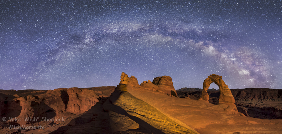 Arches National Park Delicate Arch Milky Way Mishmoments